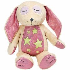 Suki Gifts Bedtime Buddies Pink Rabbit Glow in the Dark Soft Plush Toy