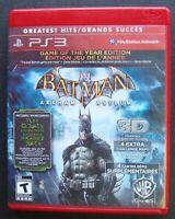 BATMAN ARKHAM ASYLUM GREATEST HITS PS3 SONY PLAYSTATION 3 GAME COMPLETE