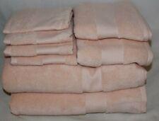 Ralph Lauren Wescott Pink Eight Piece Bathroom Towel 100% Cotton Set New