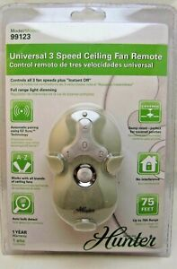 Hunter Universal 3 Speed Ceiling Fan Remote Model # 99123 new in package