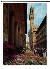 Postcard: Florence in Springtime near the Palace of the Offices, Italy