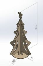 CNC Router Milling And Laser DXF File Christmas Tree ArtCAM 2D Vector Woodwork