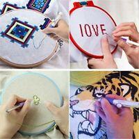 DIY Stickerei Stitching Punch Needle Set Stainless Steel + 50 Farben Fäden DE