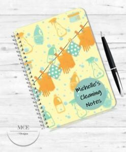 THINGS/JOBS TO DO A5 PERSONALISED NOTEBOOK, CLEANING, MRS HINCH,