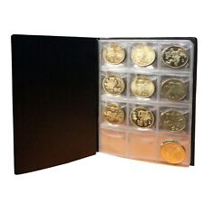 10 Pages 120 World Coin Badges Caps Holder Collection Album Book Storage Case