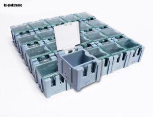 1x 20 Leer Container Box blau für SMD Bauelemente Mäuseklo 0603 0805 1206