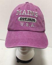 Purple Maine USA Est 1820 State Souvenir Trucker Hat Cap Adjustable