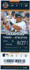 2013 Tigers vs Oakland A's Ticket: Brandon Moss & Seth Smith Home Run