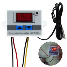 220V Digital Temperaturregler Thermostat LED Control Temperatur Regler W/ Probe