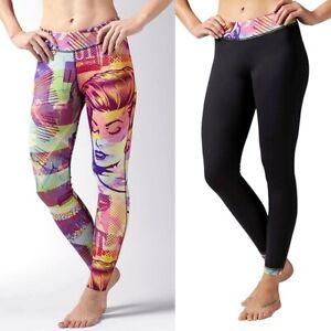 Reebok Reversible Legging Damen Laufhose Running Fitness Training Hose Warm XS-M
