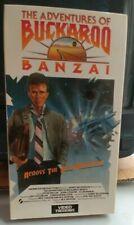 Vestron VHS The Adventures of Buckaroo Banzai 1984 SciFi Cult