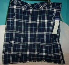 Laura Scott navy plaid pencil skirt - Size  L - NWT