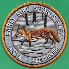 Pa Fish Game Commission ARTIST SIGNED 2018 Red Fox Early Bird Sports Expo Patch