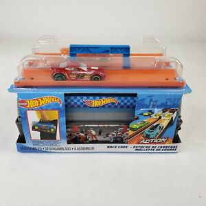 Hot Wheels Action Race Case One Size Blue/orange NEW IN BOX