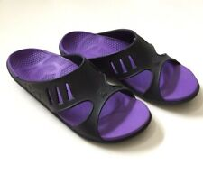 Spenco Fusion Slide Sandals Womens Size 10  Black Purple