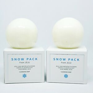 KBROS Snow Pack Lava Water Cleansing Soap 85g x 2ea Bubble Foam Net K-Beauty