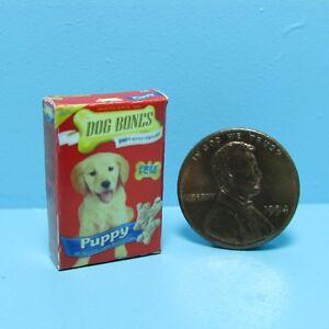 Dollhouse Miniature Detailed Replica Puppy Dog Bones Box G029