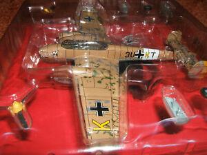 MESSERSCHMITT ME-110 D-3 3U+KT Africa 41 Luftwaffe III/ZG diecast IXO 1:72 metal