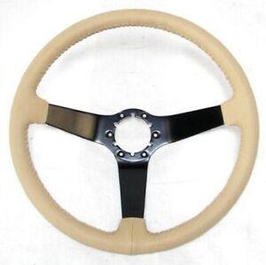 1977-79 Chevrolet Corvette OE Series Brushed Center Steering Wheel - Tan