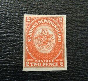 nystamps Canada NewFoundIsland Stamp # 11 Mint OG H $400 Signed   A9x2016