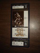 Ticket Stub Nba Paul Neuman Warriors Vs Mavericks 97 50Th Ann Unused Full Ticket