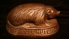 Badger Mutual Fire Insurance Advertising Paperweight Cast Iron 1930's