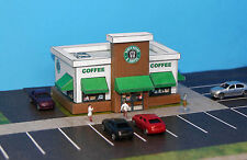 Seven Bucks A Coffee Shop N Scale Building DIY Paper Cutout Kit