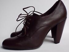 New Sacha London 7 40 Brown Leather Lace up High heel Ankle boots