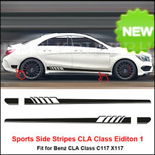 NEW Stripes Sticker for Mercedes Benz W117 C117 X117 CLA 45 AMG Edition 1 Black