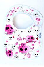 Pink Skulls bib - genuine Eatmyfeet product