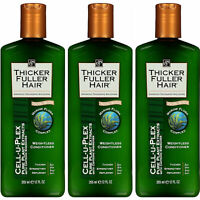 (3 Pack) NEW Thicker Fuller Hair Weightless Conditioner Cell-U-Plex 12 Ounces