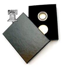 Air-tite Coin Holder Black Velvet Box Gold Insert + Model A Storage Capsule Case