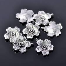 20pcs 21X18mm Tibetan Silver Flower Metal Beads Craft Findings Pendants 16#