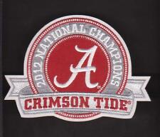 Alabama Crimson Tide 2012 Champion Ship Jersey Patch