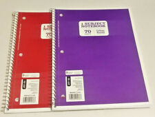 Lot Of 2 College Rule Spiral Bound Notebook 1 Subject 70 Sheets Pages Red Purple