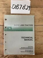 John Deere TM1769 Sabre Lawn Tractor Mower Technical manual