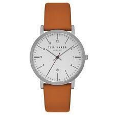 Ted Baker Designer Watch - TE15088002 - Orange Strap - White Face