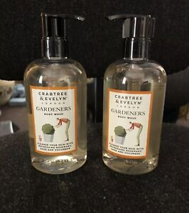 Crabtree & Evelyn Gardeners Body Wash Soap 300ml X2 Discontinued Rare