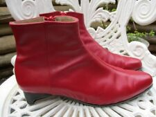 Eugenia Neave Shoemaker BOOTS ANKLE ALL LEATHER RED Sz 7