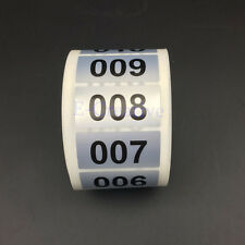 5000 Labels From 1 To 5000 Consecutive Number Stickers Waterproof Accept Custom