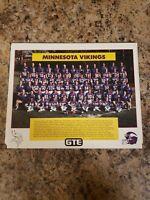 1987 MINNESOTA VIKINGS 8X10 TEAM PHOTO FOOTBALL PICTURE NFL