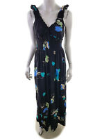 Dunnes Women's Dress EU 42 UK 14 US 12 black flowers floral viscose 100%