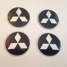 4 Mitsubischi Aufkleber 53mm Schwarz Embleme Logo  Nabendeckel 142-Mi