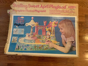 VINTAGE RARE 1973 REMCO FUNTIME STROLLING SWEET APRIL DOLL SET IN BOX