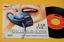"""PAUL EVANS 7"""" HELLO THIS IS JOANNIE 1°ST ORIG ITALY 1978 NM ! TOP COLELCTORS"""
