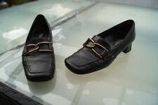 PAUL GREEN Damen Schuhe Pumps Slipper Gr.6 / 39,5 Leder dunkelbraun TOP #ä
