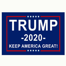 Donald Trump 2020 Flag 3x5'' BLUE Keep America Great Flags Banner