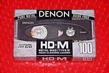 DENON HD-M  100  VS. II  BLANK CASSETTE TAPE (1) (SEALED)
