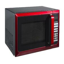 Stainless Steel Microwave Oven Dorm College Apartment 900w Red Countertop Home