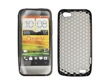 Housse Etui Coque Silicone Gel Noir Diamand ~ HTC ONE V